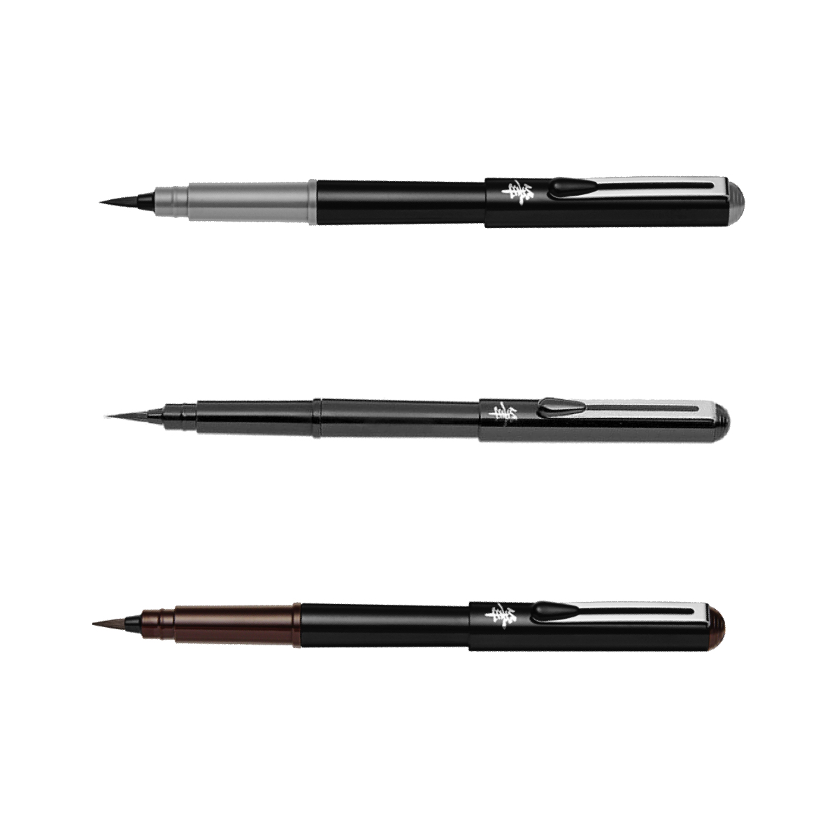 Pentel - Pinselstift Pocket Brush 3er Set