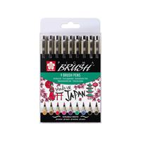 Sakura - Pigma Brush Etui 9er farbig