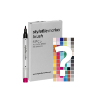 Stylefile - Marker Set Brush 6er Try Out
