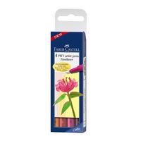 Faber Castell - PITT Artist Pen Fineliner 4er Set (warm)