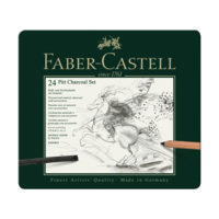 Faber Castell - PITT Kohleset 24er Metalletui