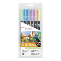 Tombow - Brush Pen - Set 6 Pastellfarben