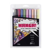 Tombow - Dual Brush Pen 10er Set Manga Shojo