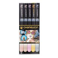 Chameleon - Pen Set - 5 Pastell Tones