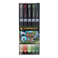 Chameleon - Pen Set - 5 Nature Tones