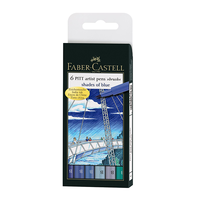 Faber Castell - PITT Artist Pen Brush Shades of Blue
