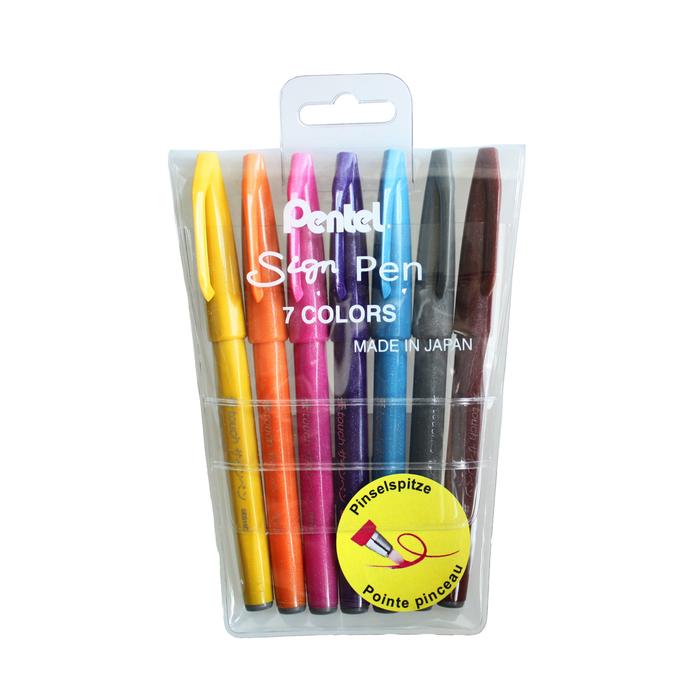 Faserschreiber Sign Pen von Pentel in vier Farben