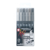 Sakura - Koi Color Brush Set 6er gray