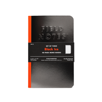 Field Notes - Notizbuch liniert Black Ice Edition 3er Pack