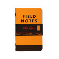 Field Notes - Notizbuch liniert Utility Ledger Edition 3er Pack