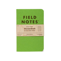 Field Notes - Notizbuch kariert Shenandoah Edition 3er Pack