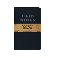 Field Notes - Notizbuch liniert Pitch Black Edition 2er Pack