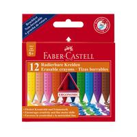 Faber Castell - Radierbare Kreiden Jumbo 12er Set bunt