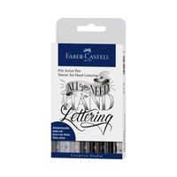 Faber Castell - Starter Set Hand Lettering 9-teilig schwarz-weiss
