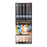 Chameleon - Pen Set - 5 Skin Tones