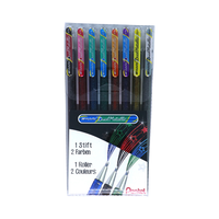 Pentel - Gel Roller Dual Metallic Effektstifte 8er Set