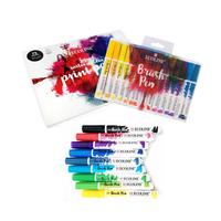 Sakura - ECOLINE Brushpen Mega Pack - 30 Farben mit Hybridzeichenblock