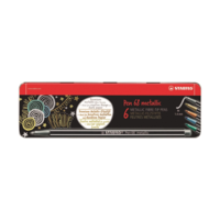 Stabilo - Pen68 Fasermaler metallic 6er Set