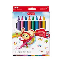 Bruynzeel - Kids Triple Fasermaler 10er Pack
