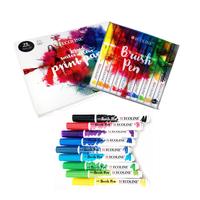 Sakura - ECOLINE Brushpen Komfort Pack - 10 Farben mit Hybridzeichenblock