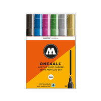 Molotow - Acryl Marker Metallic 6er Set