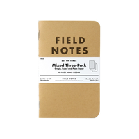 Field Notes - Notizbuch Mixed Paper 3-pack